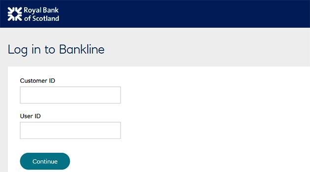 RBS Bankline Login