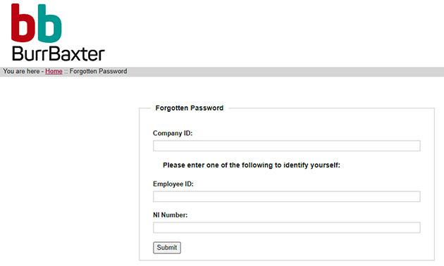 BBdatasafe Forgot Password 2