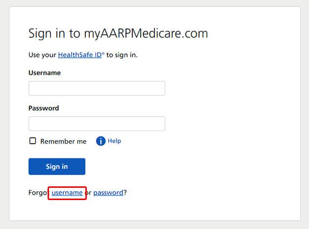 Myaarpmedicare Forgot Username
