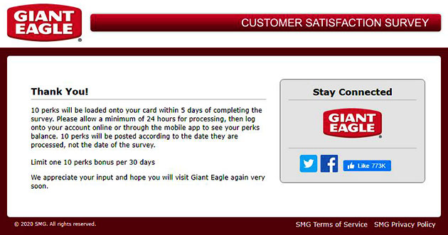 Giant Eagle Listens Survey