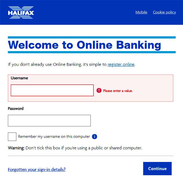 Halifax Online Banking Sign In