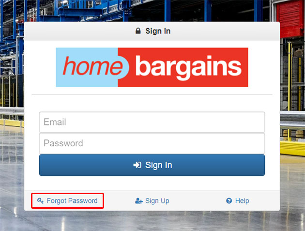 Home Bargains Portal Forgot Password