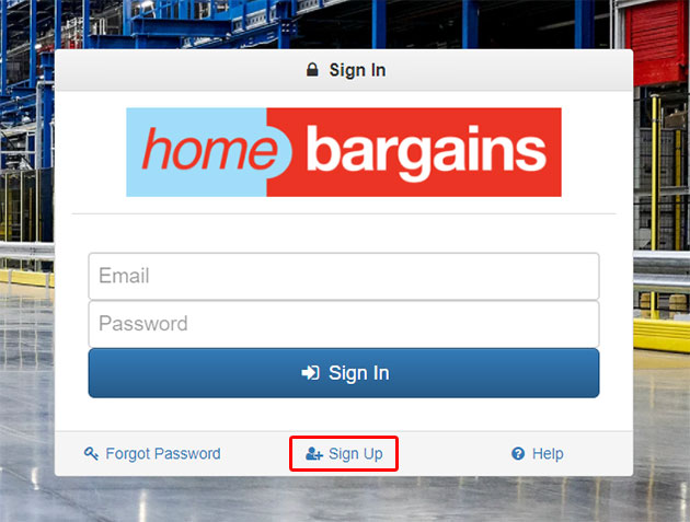 Home Bargains Portal Sign Up