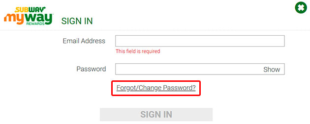 Mysubwaycard Forgot Password