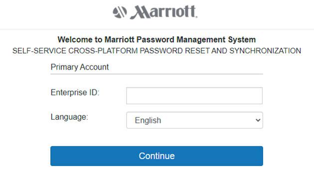 4MyHR Marriott Forgot Password