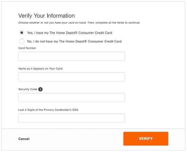 Home Depot Credit Card Forgot Password 2