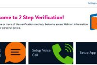 Walmartone 2-Step Verification - wmlink/2step on a Walmart
