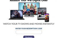 How Do I Redeem My WB Digital Code at wb.com/redeemdigital