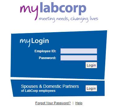 MyLabCorp Login at www.mylabcorp.com