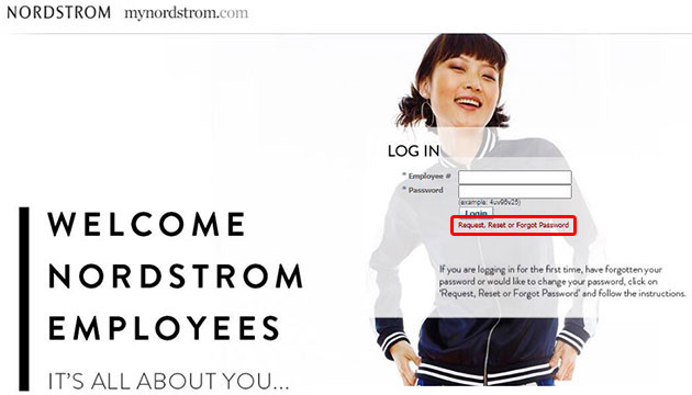 MyNordstrom Forgot Password