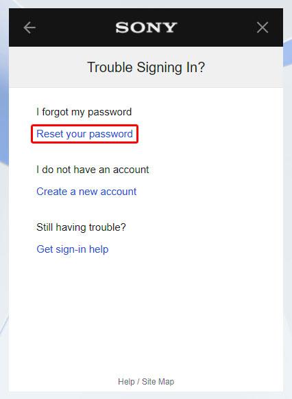 SonyEntertainmentNetwork Forgot Password at id.sonyentertainmentnetwork.com/id/management