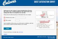 Culver's Survey at www.tellculvers.com