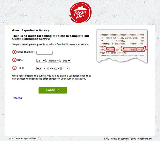 Pizza Hut Canada Survey at www.pizzahutlistens.ca
